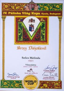 Diploma de Bronz Palinka World Cup 2015 Palica de Pere Williams