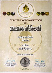Diploma de Argint QUINTESSENCE 2015 Palica de Prune